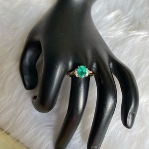 10K Solid Gold Apatite Ring